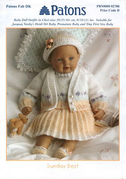 995ceec6260d3 Modern knitted dolls clothes patterns available from The Vintage ...