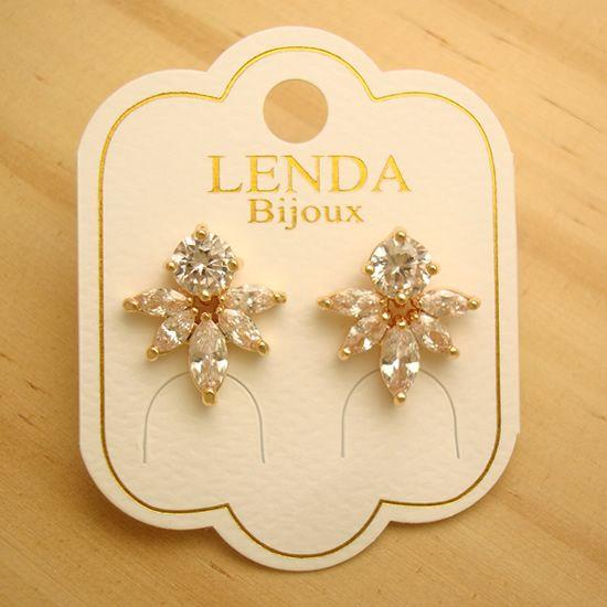 dd7fe4e40 bijuterias baratas online atacado brinco pequeno leve dourado zircônia -  altura 1,5 cm -