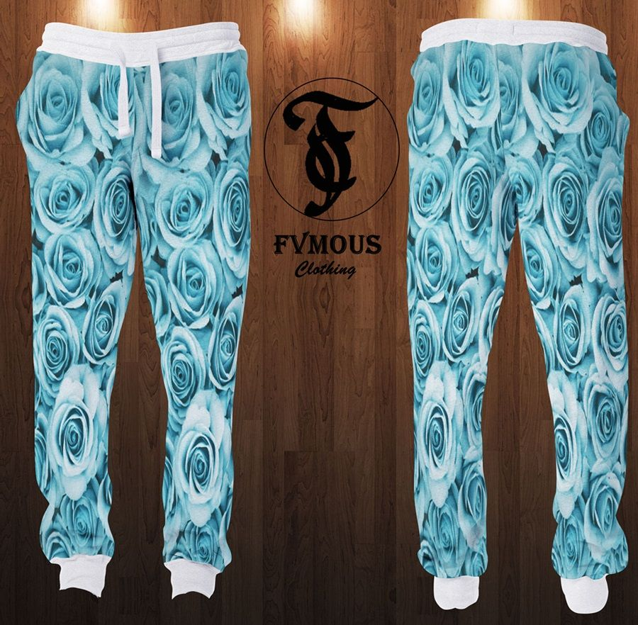 7a7e64002221ac Jordan Legend Blue 11s Inspired... Baby Blue Roses Joggers with White Trims    Adjustable Waist Line.