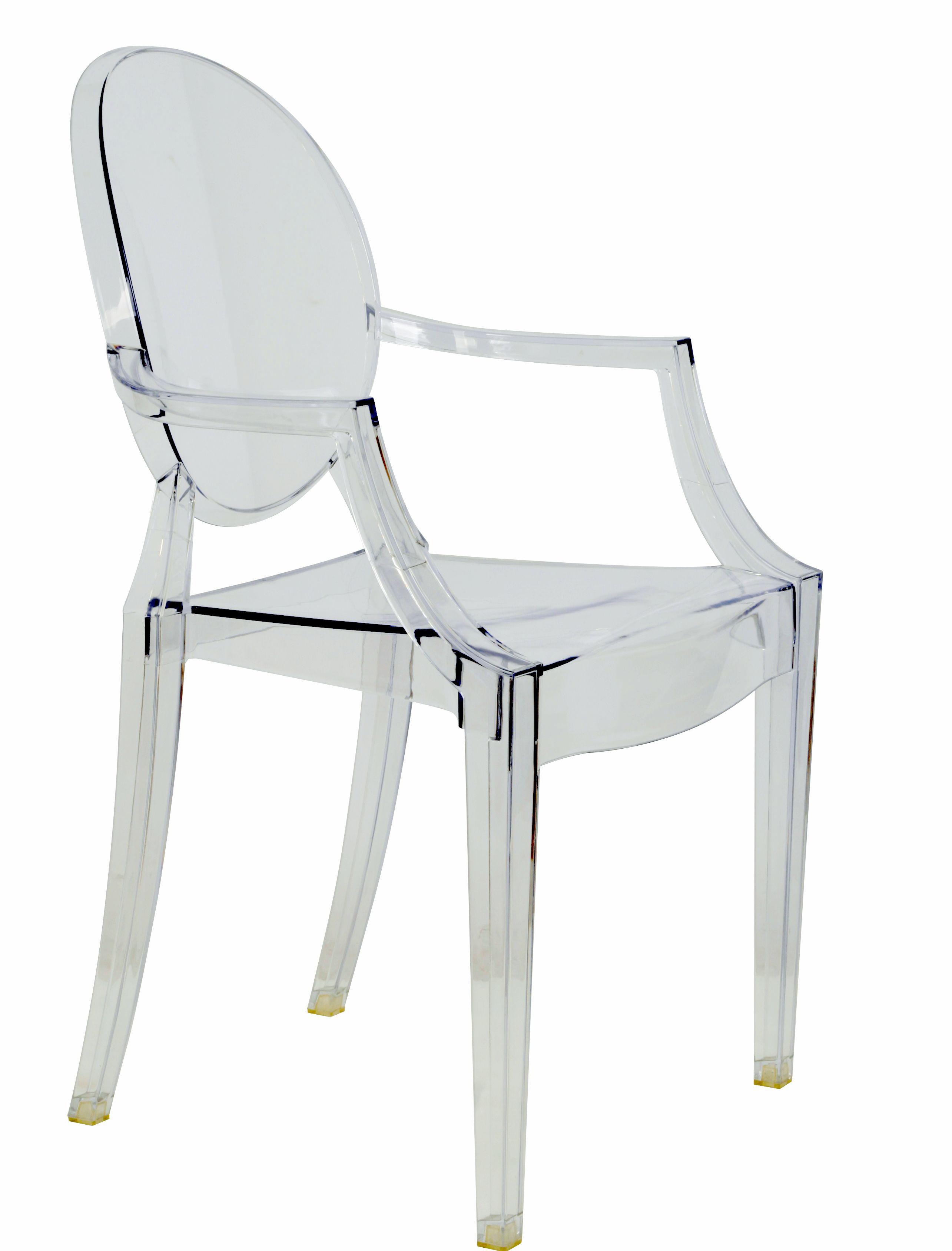 No te encanta esta silla trasparente? No ocupa espacio visual y es ...