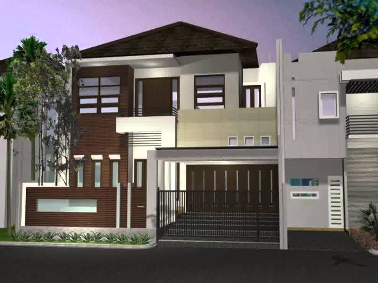 Desain Rumah Mewah Minimalis Lantai 2 Tampak Depan In 2020 With