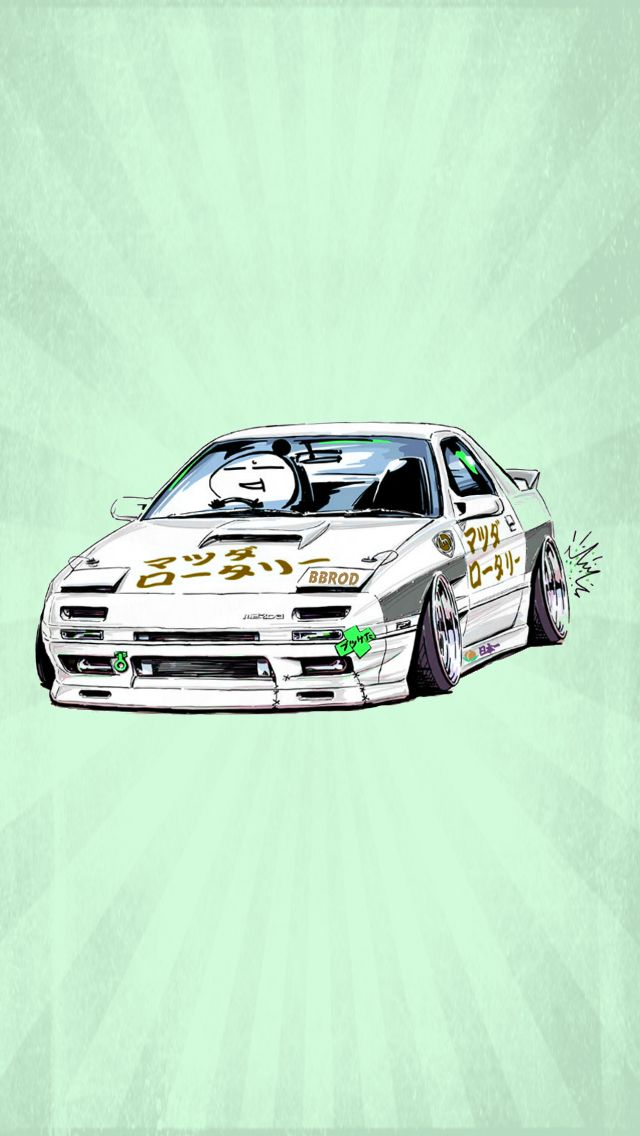 Drifting Drift Wallpaper Iphone Android Ios My Art Sticker