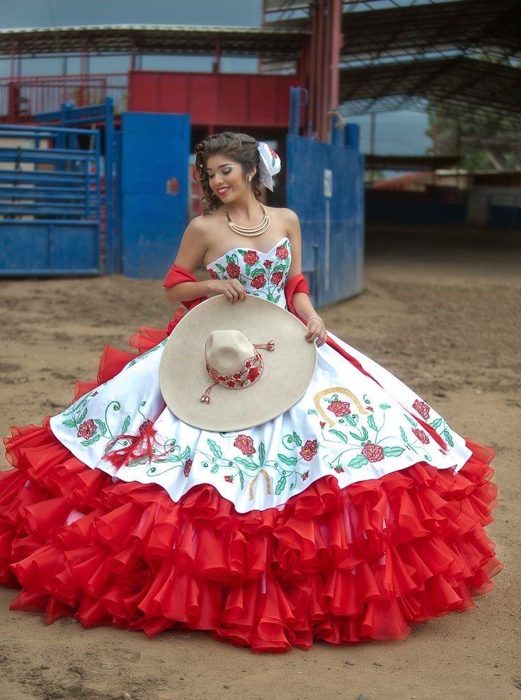 Vestidos de 15 años charros | quince | Mexican quinceanera ...