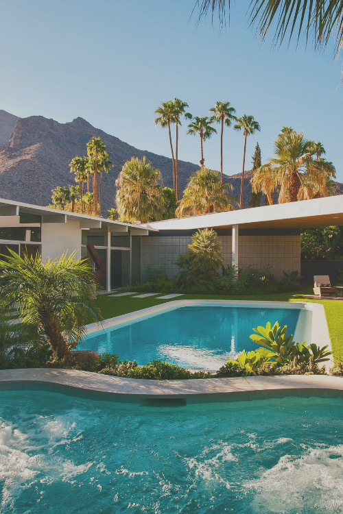 Palm Springs Mid Century Modern Homes Built New On Sunny Dunes