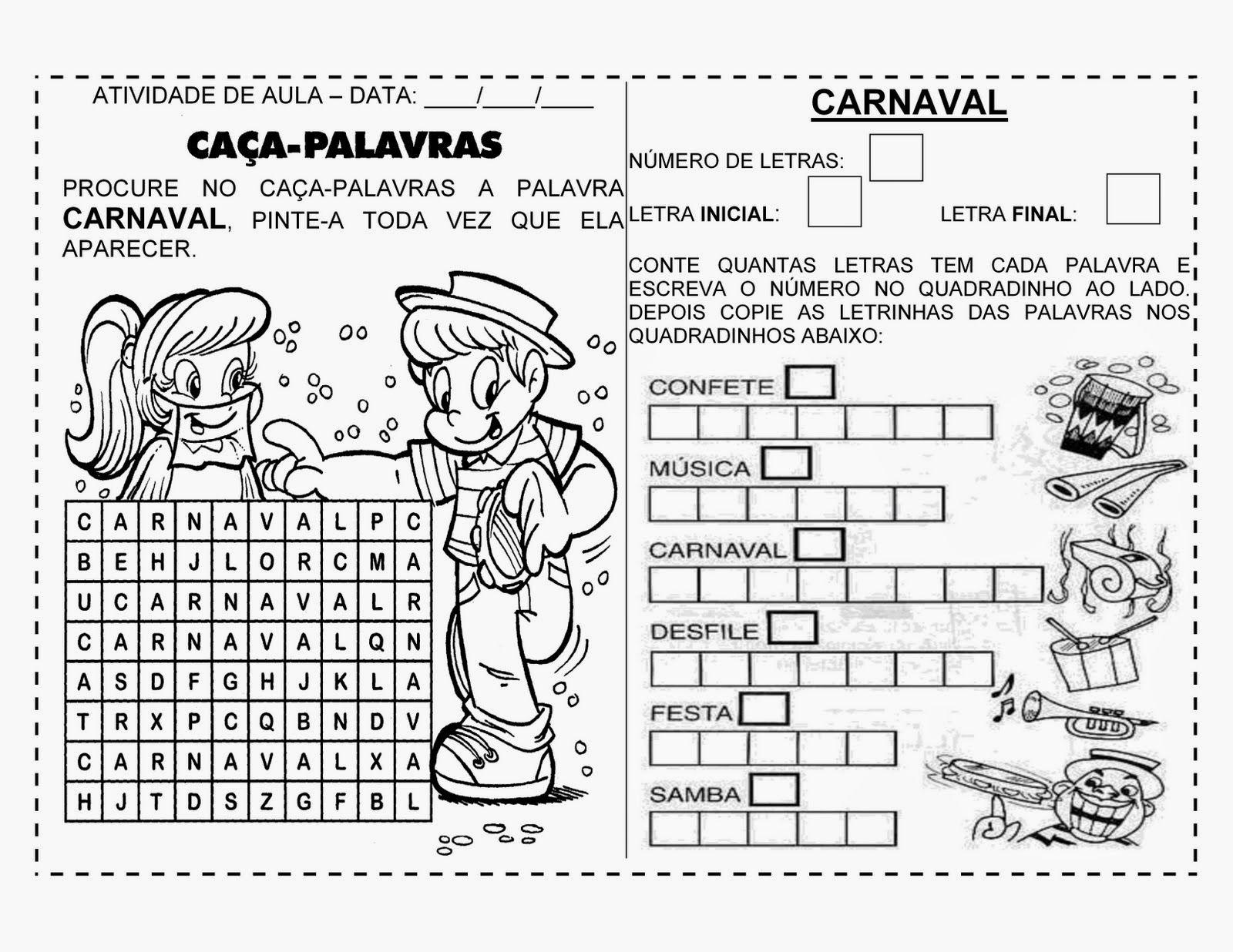 Ensinando Com Carinho Atividades De Carnaval Para 2º Ano Em 2020