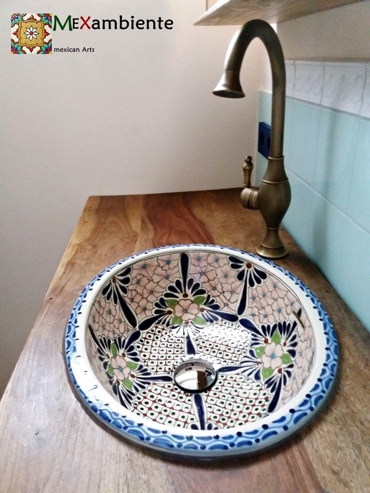 """Handbemaltes Waschbecken aus Mexiko """"Amelie"""""""