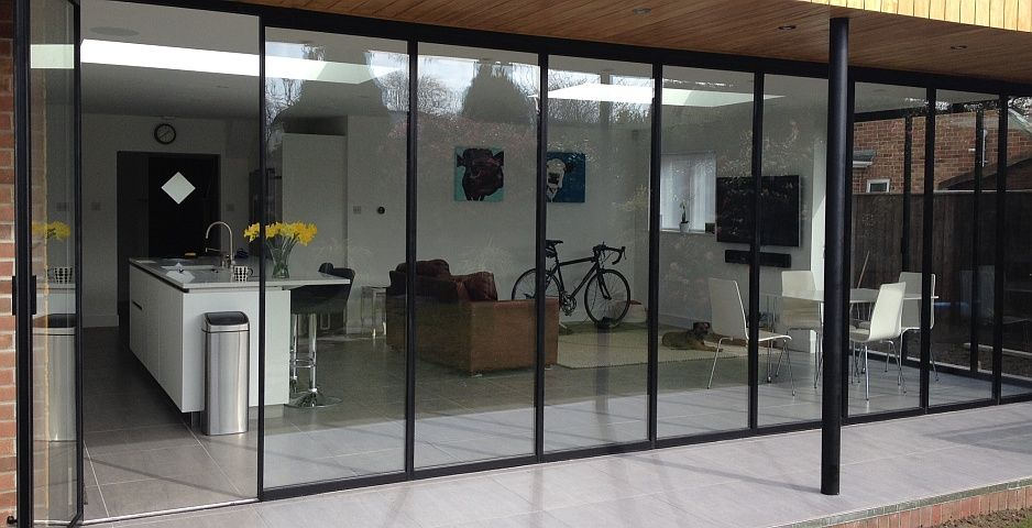 Ultraslim Glass Doors With 19mm Aluminium Frames Frameless
