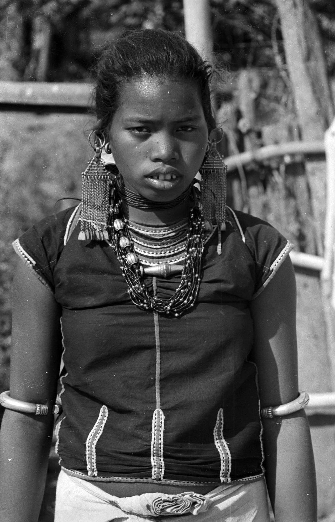Nepal | Tharu woman. Manpur, Dang District. Feb 1966 | ©SOAS, Nicholas Haimendorf