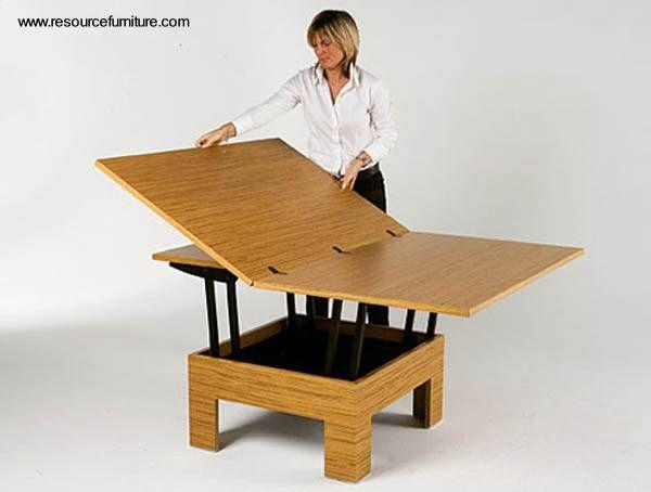 Despliegue de la tapa de la mesa transformable for Mobilia utrechtsestraat 62 64