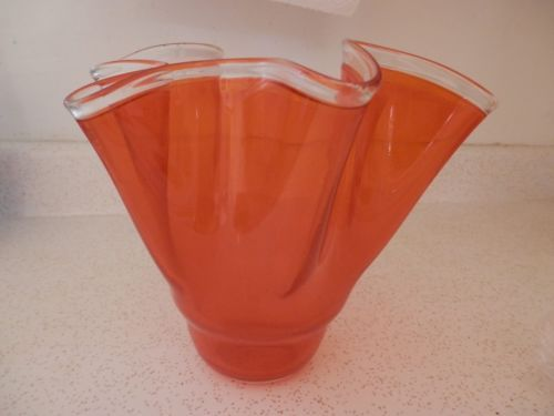 vintage-orange-wavy-edge-art-glass-vase-7-5-high-8-75-wide