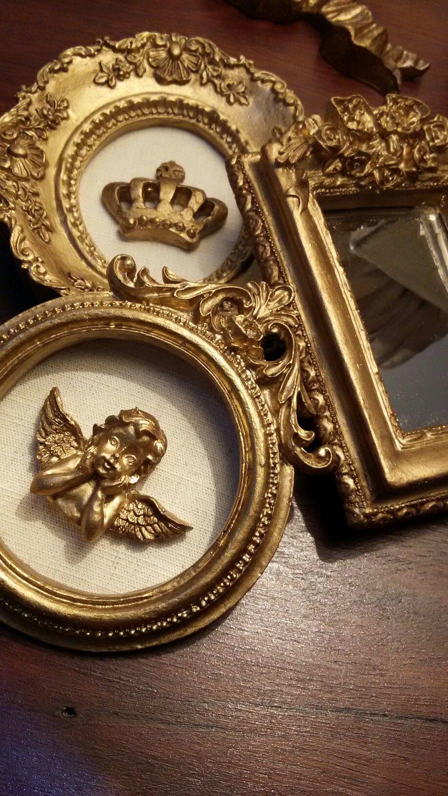 Quadro anjo e coroa disponíveis! Produção artesanal