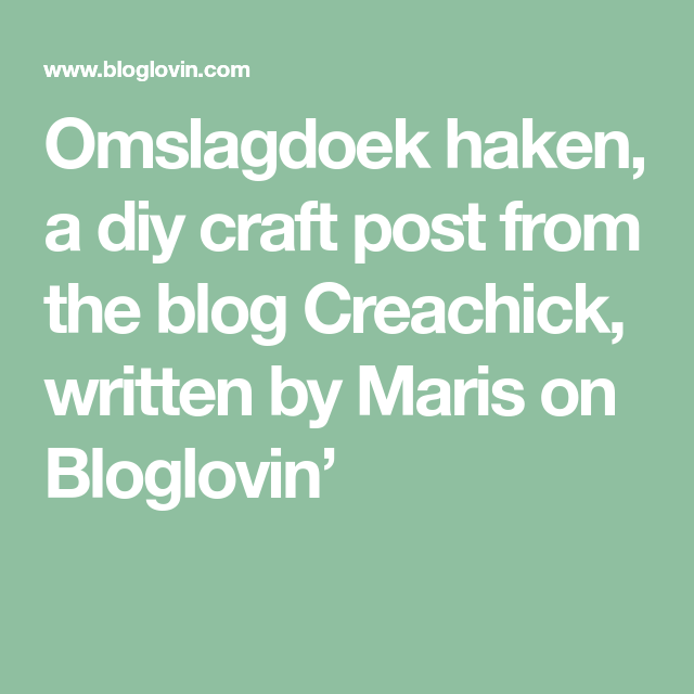 Omslagdoek Haken Creachick Pinterest Haken And Craft