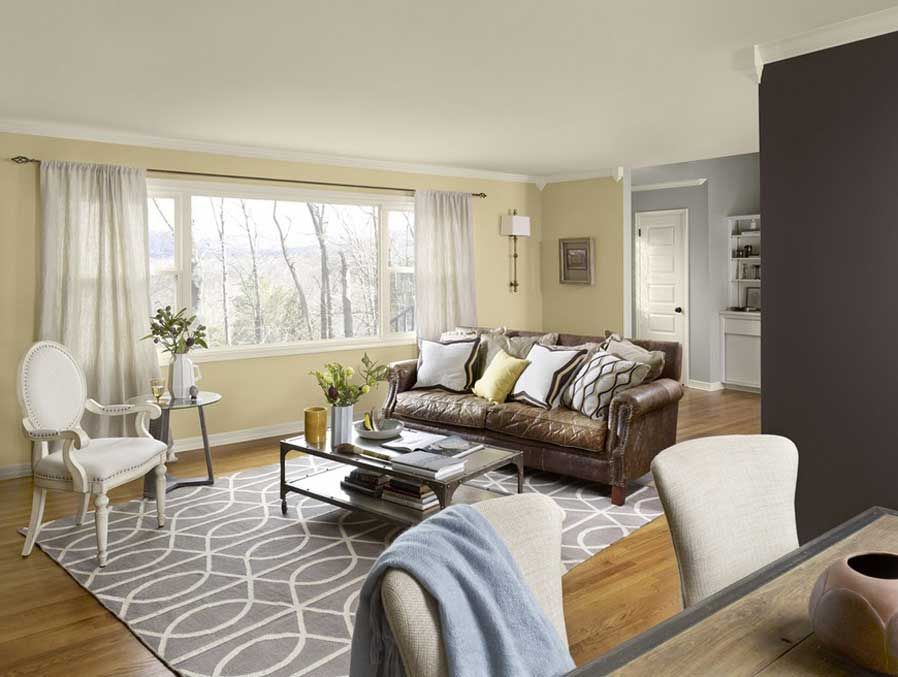 Paint Colors For Living Room With Beige And Brown Leather CouchesBrown