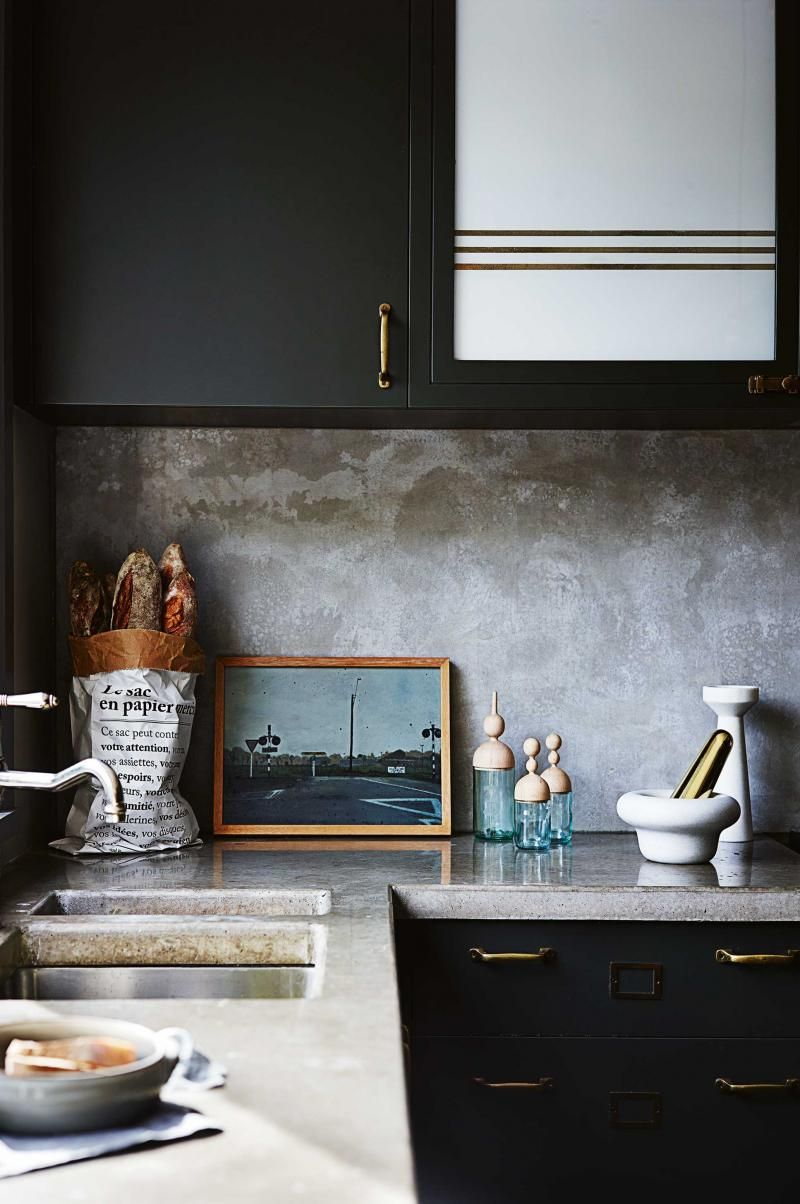 Black Splashback Kitchen 17 Best Images About Kitchen New House On Pinterest Grey Tiles