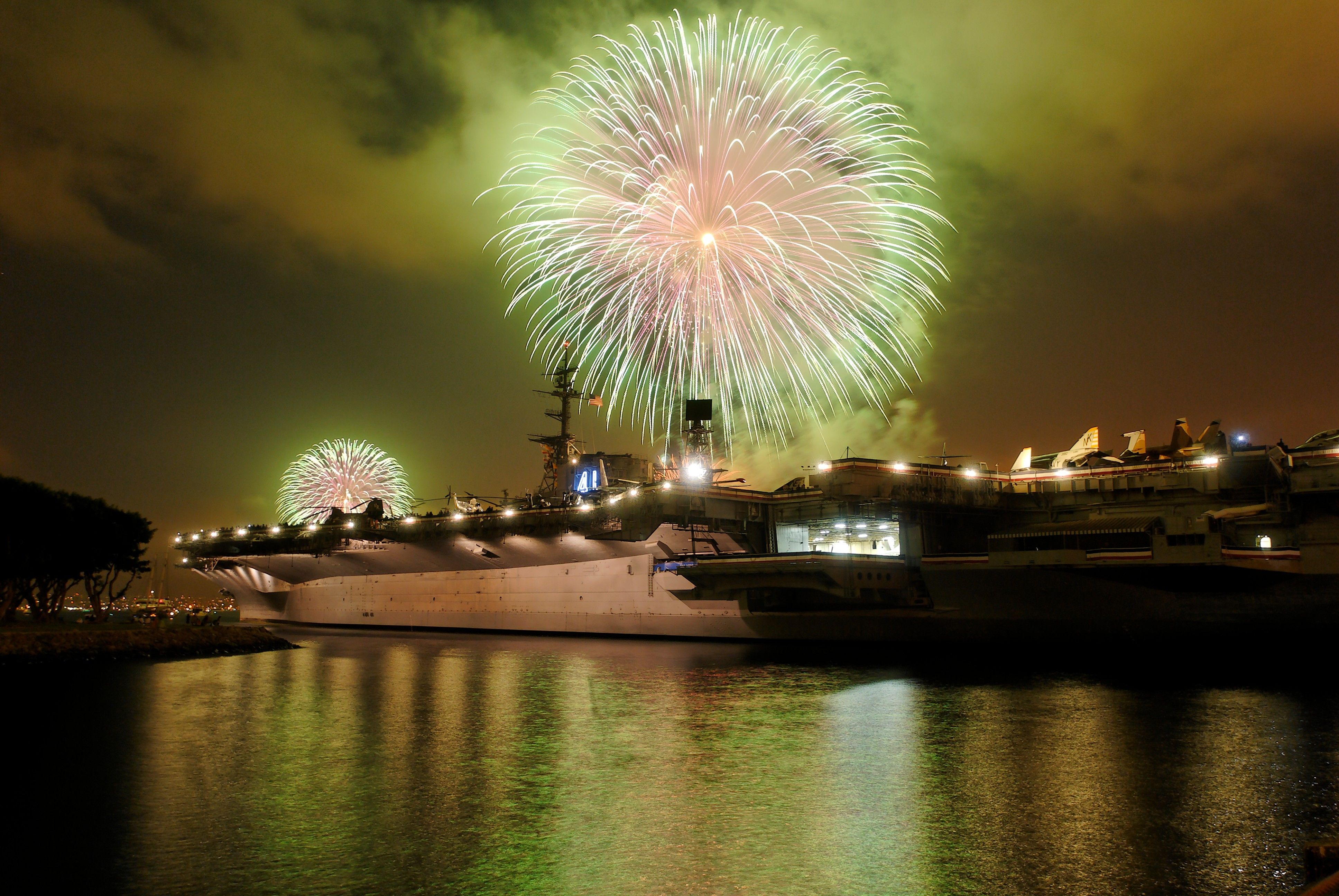 Image result for san diego bay midway fireworks