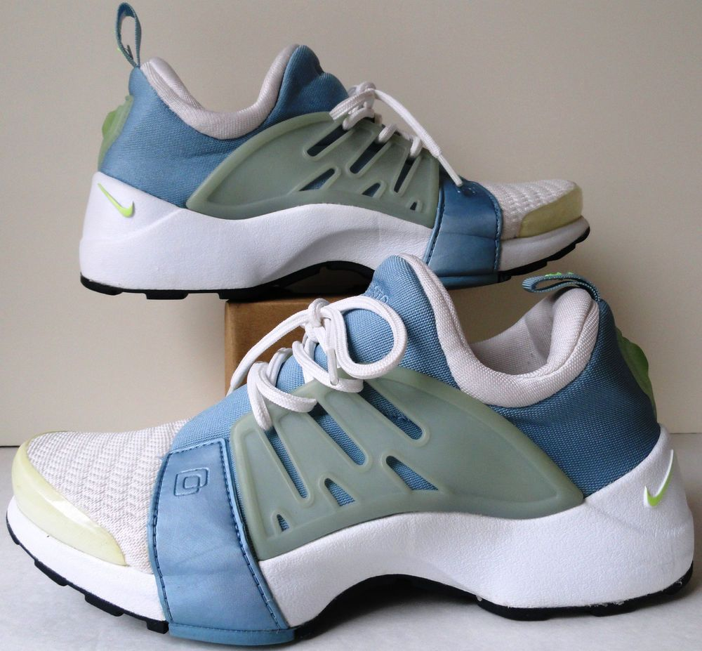 NIKE AIR PRESTO Womens XS Shoes Laces White Light Blue Green Accents 6.5-8  M  Nike  RunningCrossTraining a0271a8e38