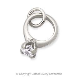 engagement ring charm with cubic zirconia jamesavery jewelry - James Avery Wedding Rings