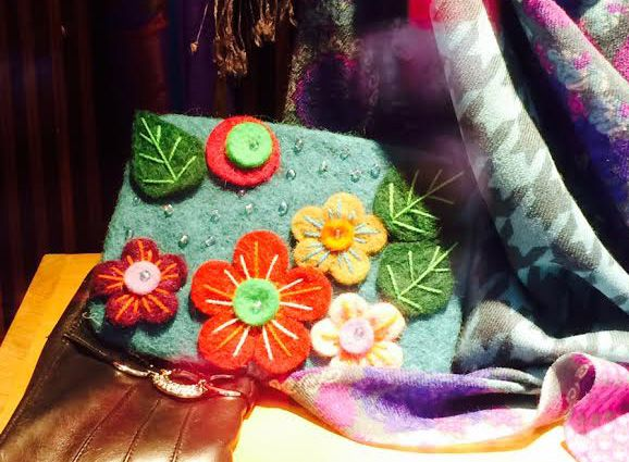 Felted bag found while I was window shopping in Gamla Stan, Stockholm.
