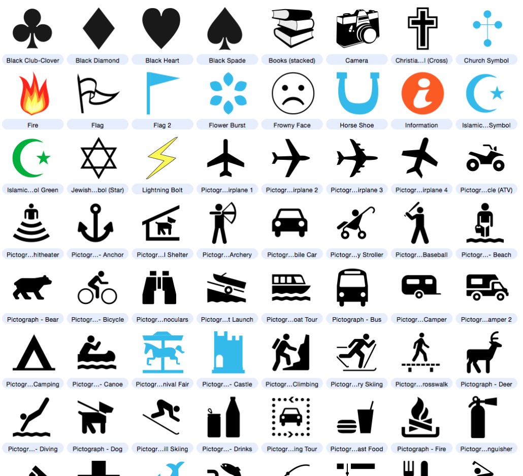 icons, infographic and pictograph clipart included with ...