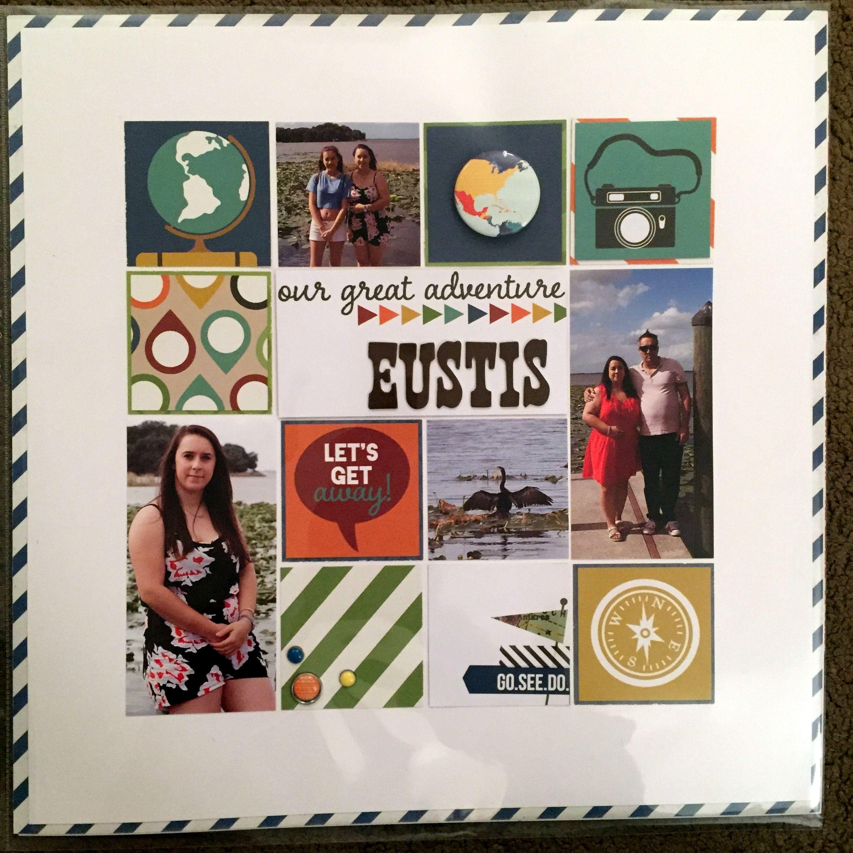florida - eustis - scrapbook / pocket page layout. www.clairmatthews.com