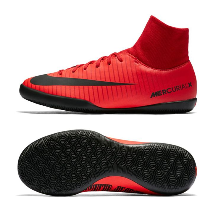 506c53d63f72 Nike Youth MercurialX Victory VI DF Indoor Soccer Shoes (Crimson)  https