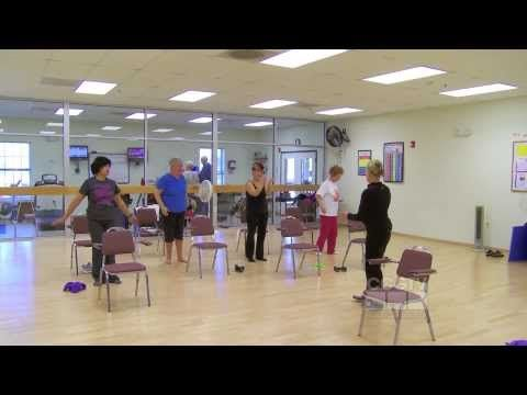 """Get Fit - """"Chair Pilates"""" - YouTube"""