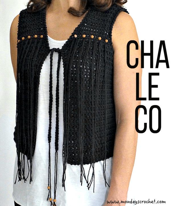 Como hacer un chaleco con flecos en crochet | Crochet patrones ...