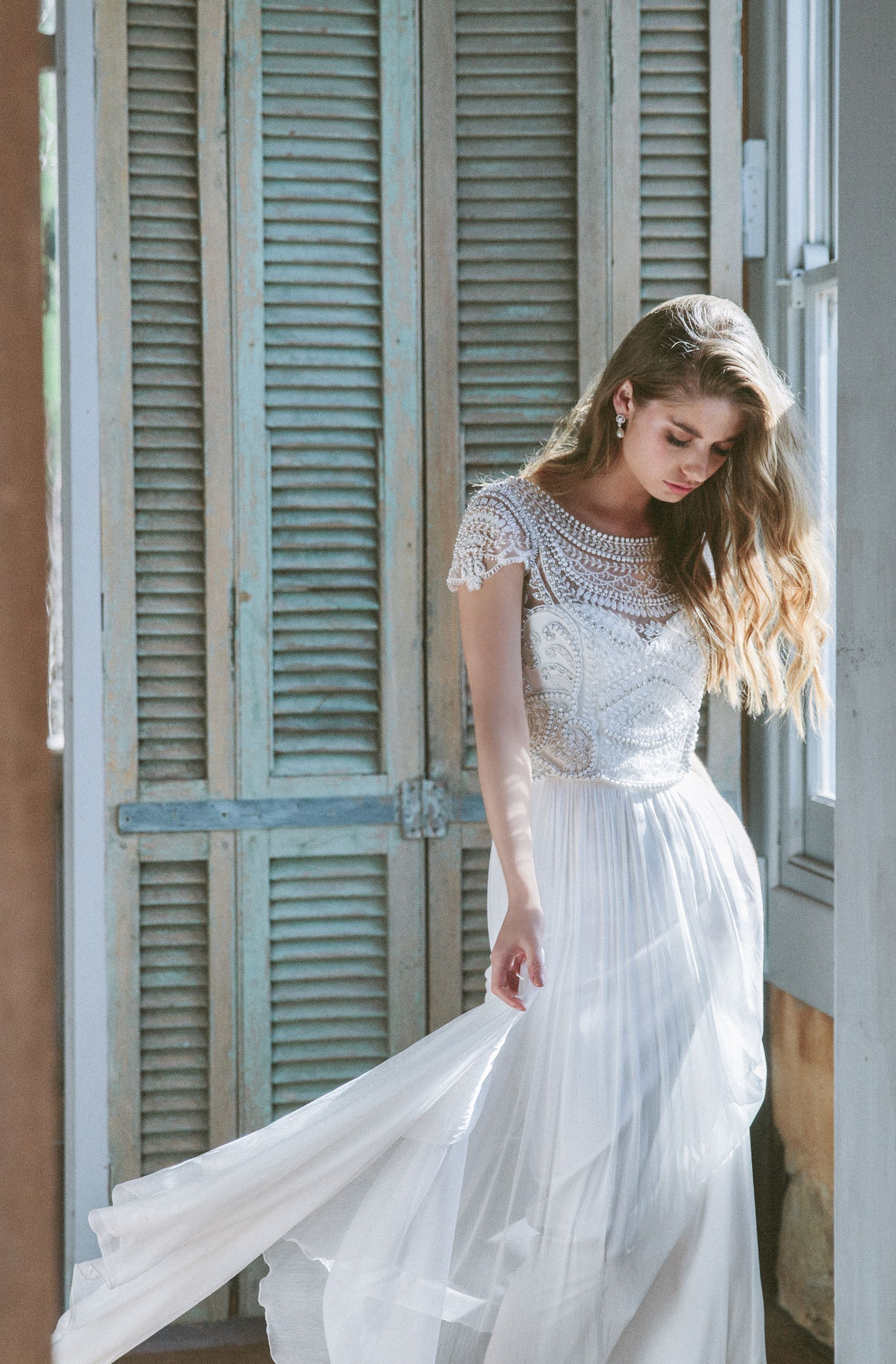 Anna Campbell bridal Ceremony Collection. Florence Silk Tulle dress ...