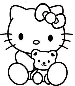 Kumpulan Gambar Mewarnai Terbaru Yang Mudah Untuk Anak Anak Warna Buku Mewarnai Hello Kitty
