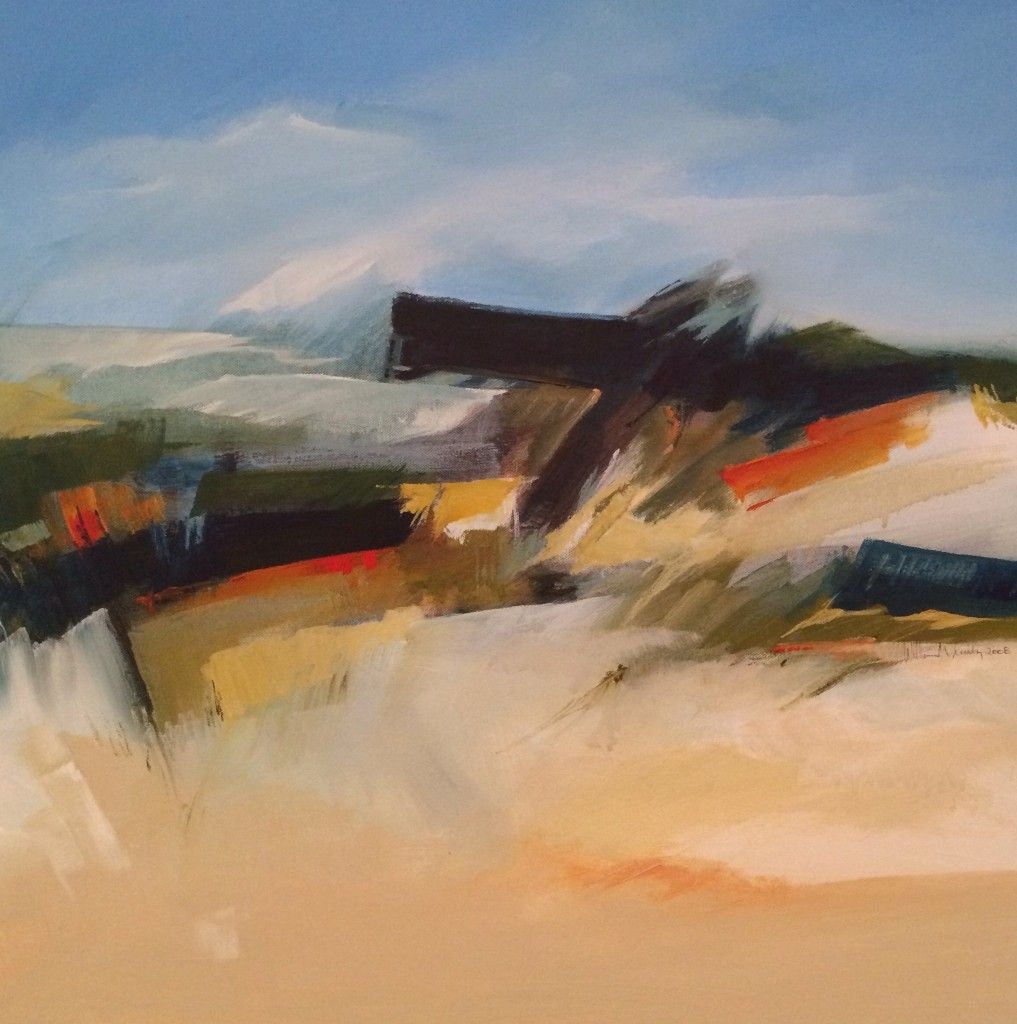 Coastal Barrier: abstract contemporary painting, acrylic on canvas by artist William Crosby, 2008