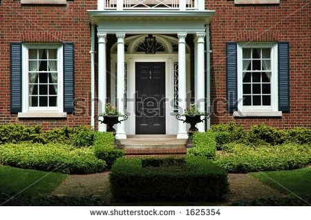 red brick homes black front door - Google Search | House | Pinterest ...