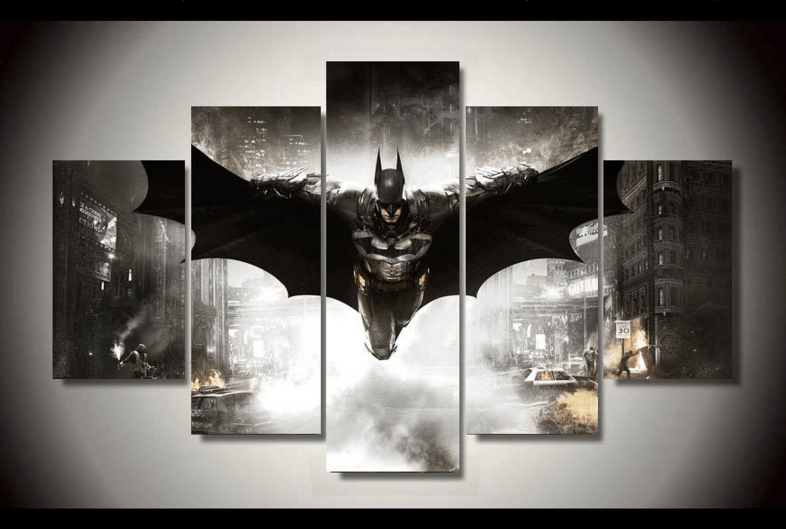 Dark Knight Villains Batman DC Poster Canvas Print Art Home Decor Wall Art
