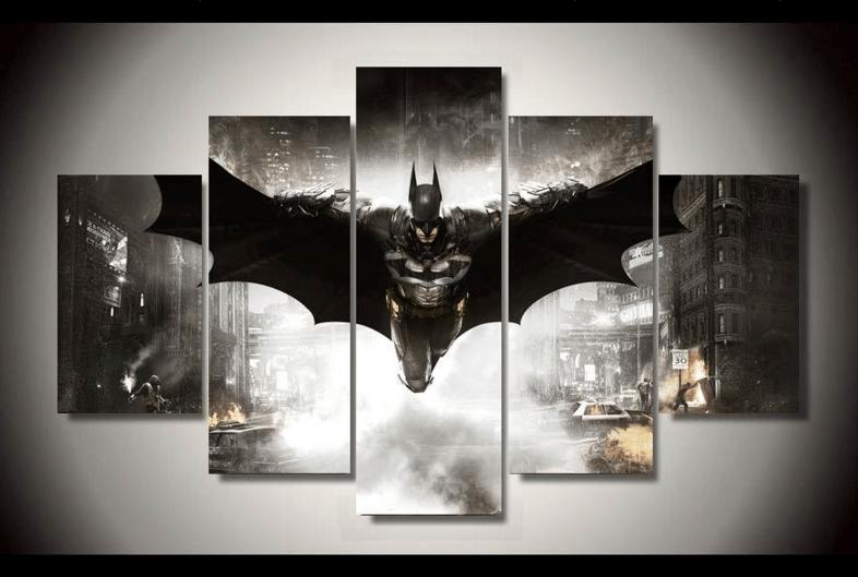 Batman 5 Piece Canvas DC Comics Framed Wall Art | Octo ...