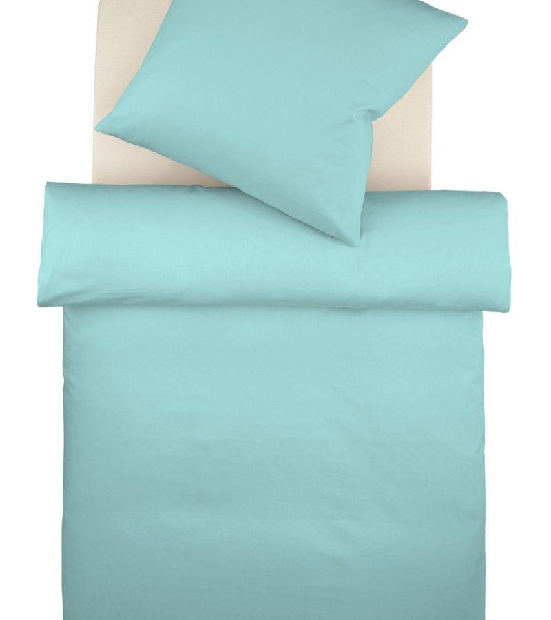 Einfarbige Bettwäsche Diesmal In Modischem Türkis Einfarbige