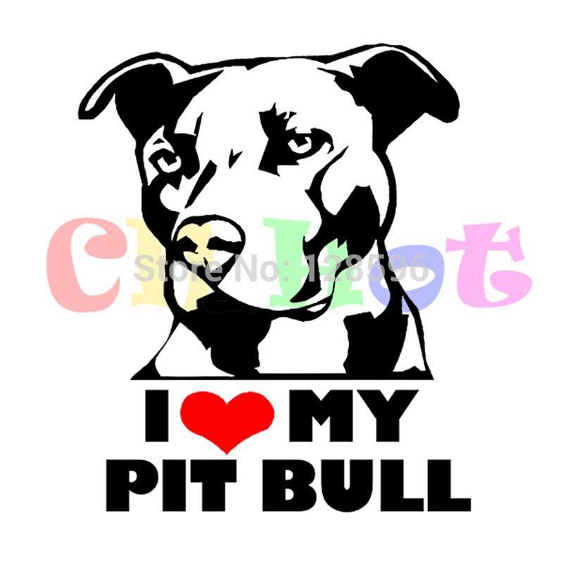Bull Supporting Pitbull/'s Dog Sticker A Love Pitbull Car Decal