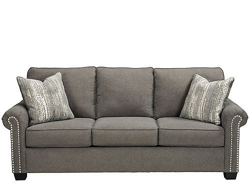 Hathaway Chenille Sofa | apartment family room | Charcoal ...