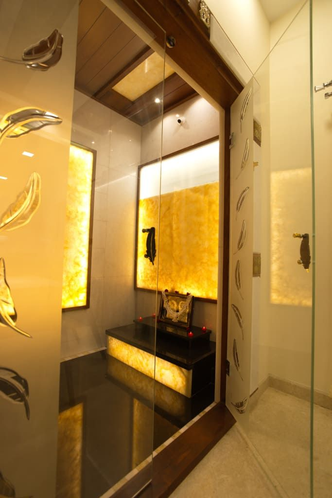 Modern Pooja Doors Google Search: Pooja Room Modern Dining Room By Hasta Architects Modern