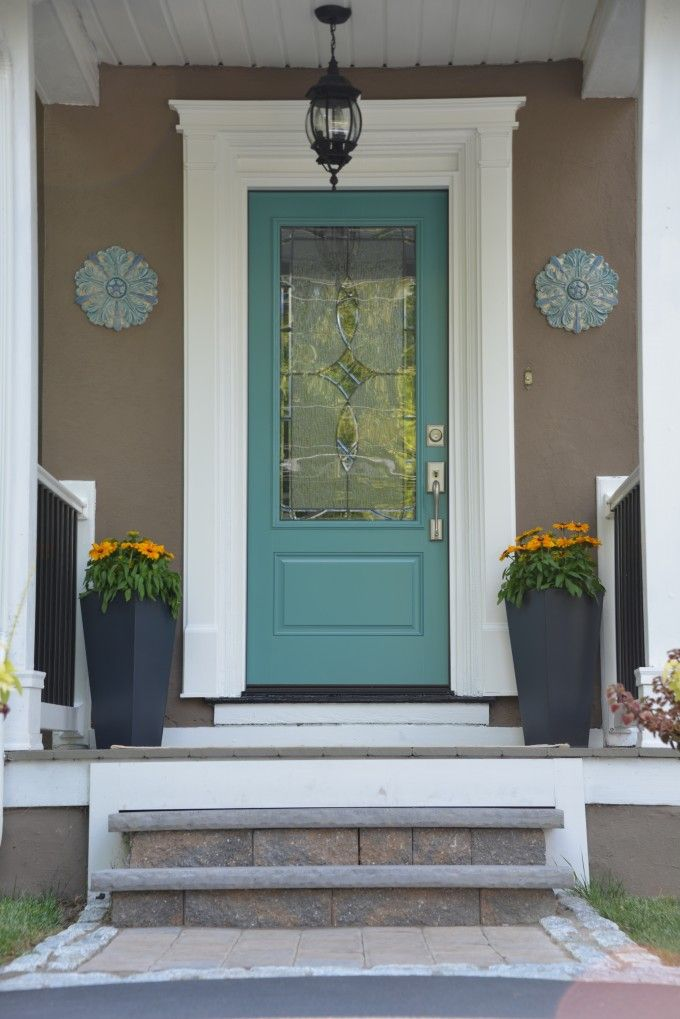 Nice Molding And The Light Seagreen Door Wall Decor Is Super Cute