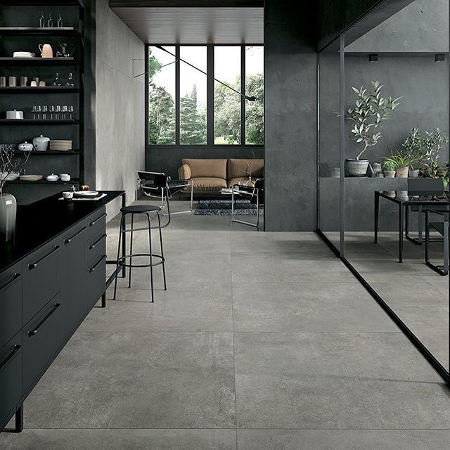 Grey Floor Tiles Are Having A Real Design Moment. Pared