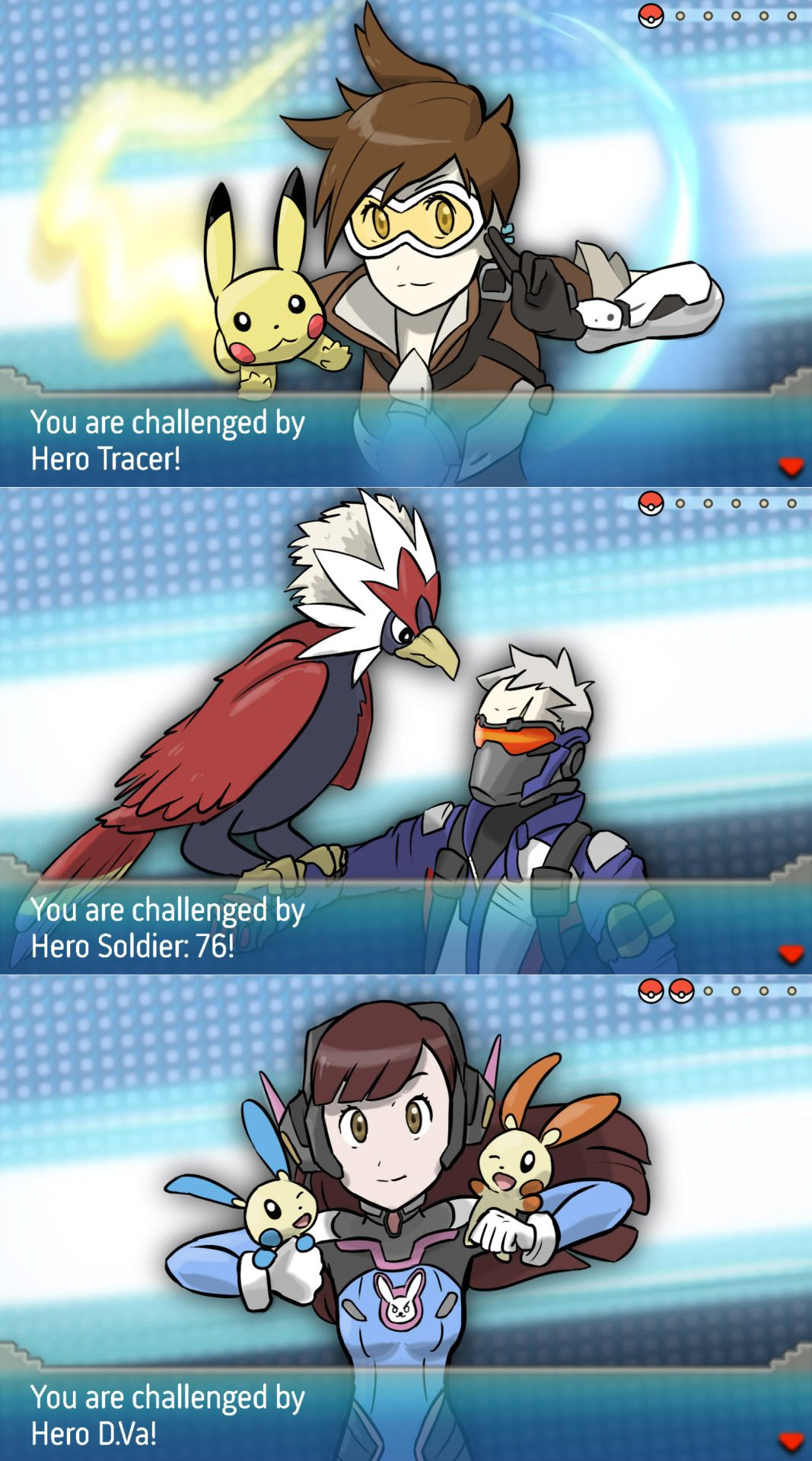 overwatch characters and their pokemon battles overwatch
