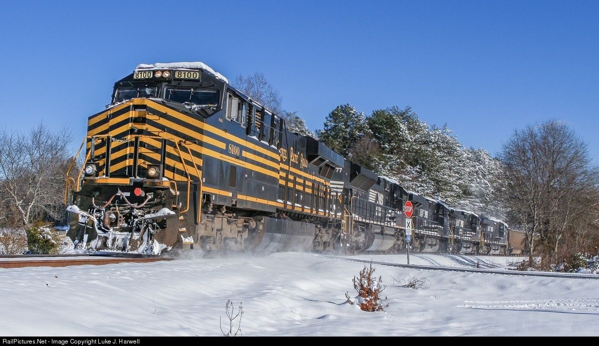 RailPictures.Net Photo: NS 8100 Norfolk Southern GE ES44AC at Sherrills Ford, North Carolina by Luke J. Harwell
