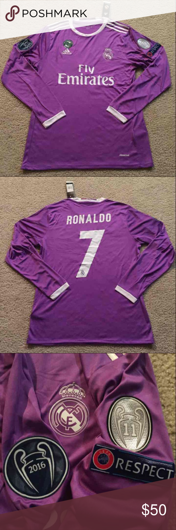 premium selection e7705 b7680 RONALDO Real Madrid Long Sleeve Soccer Jersey #7 Brand new ...