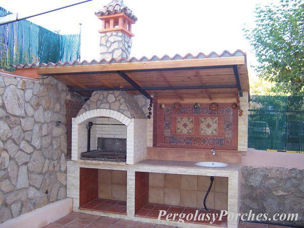 Resultado de imagen de porches para barbacoa huerto - Barbacoa exterior ...