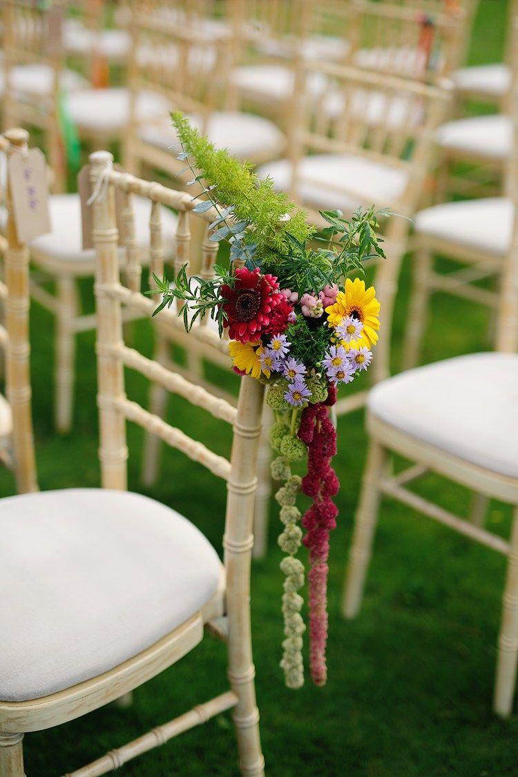 Fresh & Fun Rainbow Garden Wedding   Wedding, Wedding pews and ...
