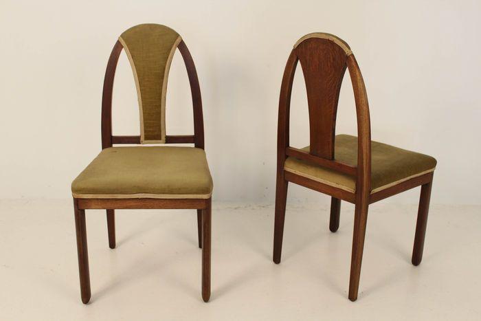 Online veilinghuis Catawiki: Paul Bromberg Voor Pander - 2 Amsterdamse School stoelen