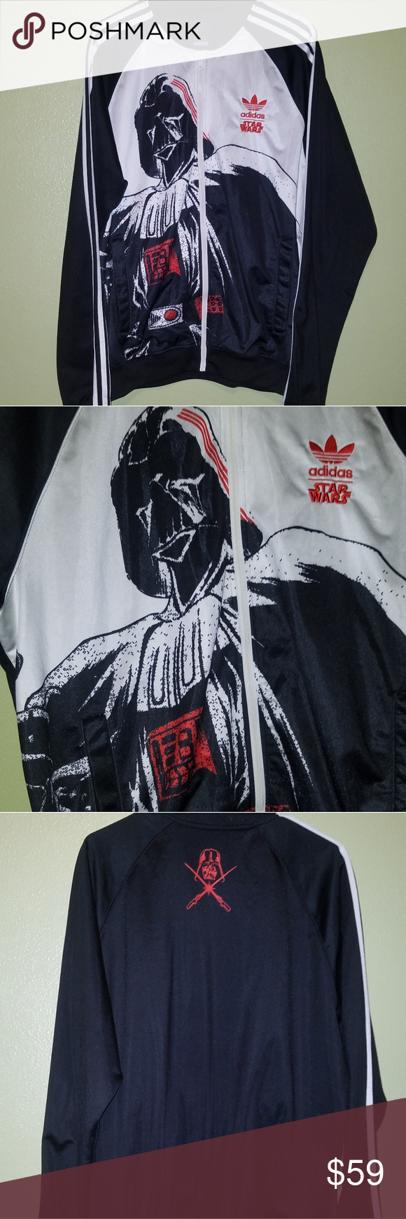 Adidas Star Wars Darth Vader Sweatshirt Jacket 2xl Adidas Star Wars Sweatshirt Jacket Star Wars Jacket [ 1740 x 580 Pixel ]