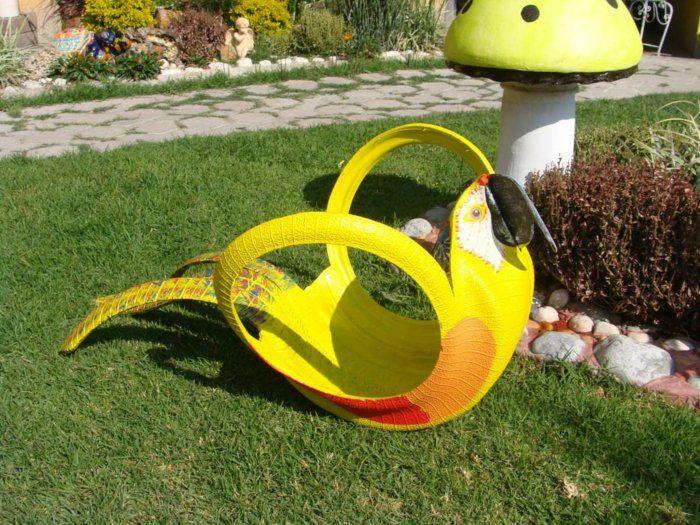 Gartendeko Selber Machen   Finden Sie Eine Coole Anwendung Der Alten  Autoreifen In Ihrem Garten.