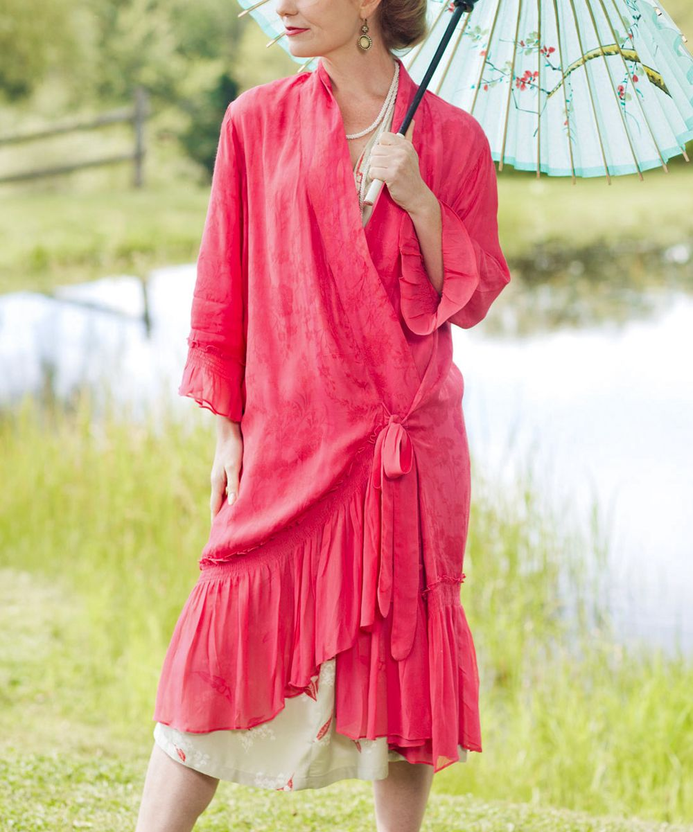 Dark Pink Cherie Dressing Gown | Daily deals for moms, babies and ...