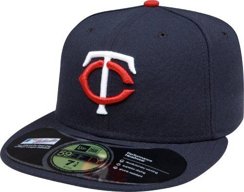 cfb0167fe MLB Minnesota Twins Authentic On Field Game 59FIFTY Cap (Navy) by New Era.  $16.99. 100% Polyester fitted Authentic Baseball Cap as worn by all players  on ...