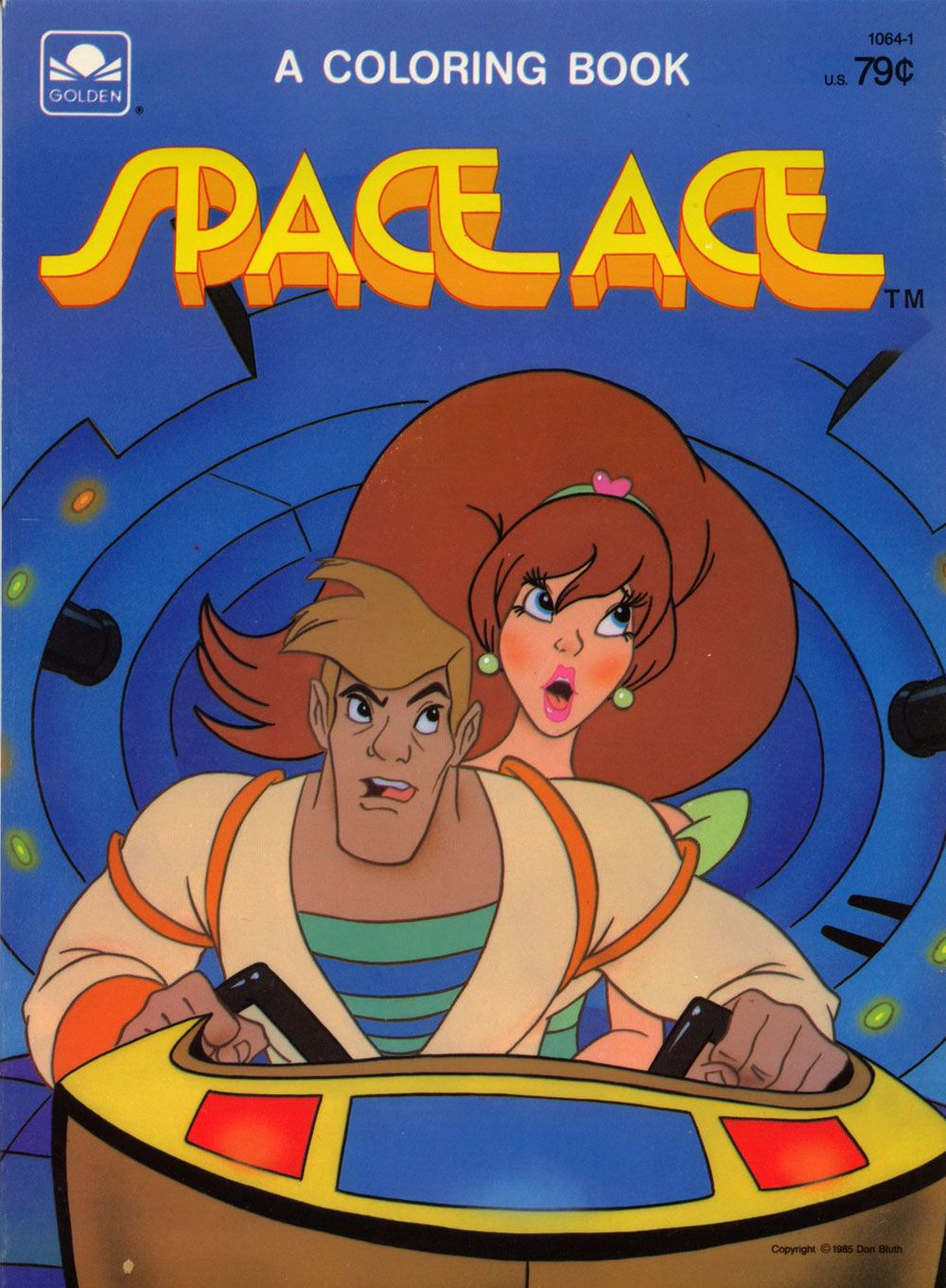 Besides Space Ace Even Dragons Lair Managed To Get A Few Coloring Books Published